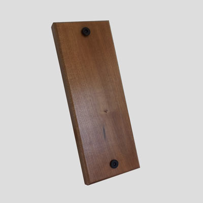 Bike Rack Accessory - Wall protector made from solid Cherry hardwood
