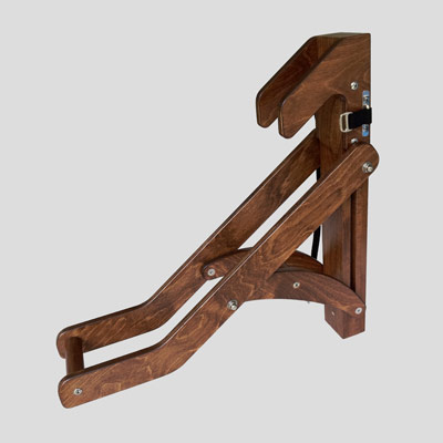 Wooden Bicycle Rack - Side View